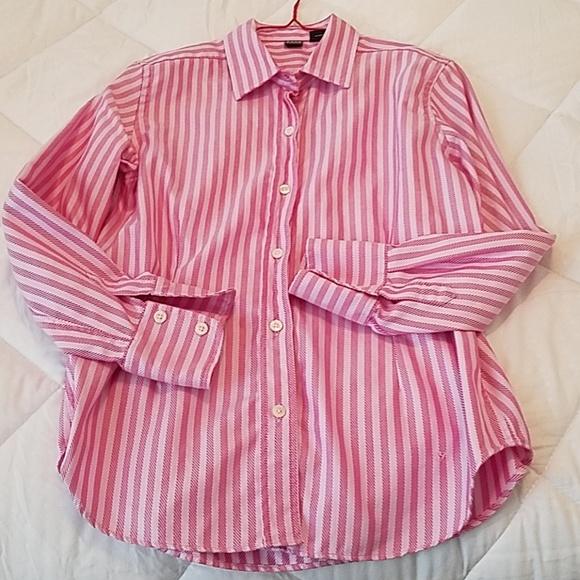 701cbb7f24f034 Saks Fifth Avenue Tops | Pink Striped Womens Shirt12 | Poshmark